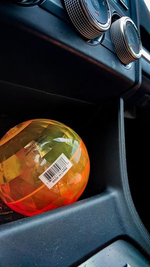 Car Arts Culture And Entertainment No People Indoors  Close-up Music Day Ball Interior Subaru Bouncy Ball Orange Bar Code Simple EyeEm Selects EyeEmNewHere