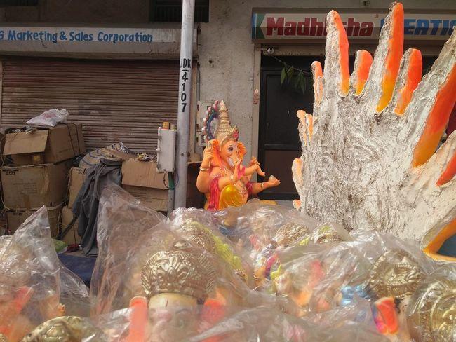 Ganpati Statue GaneshChaturthi India Indiangod Close-up