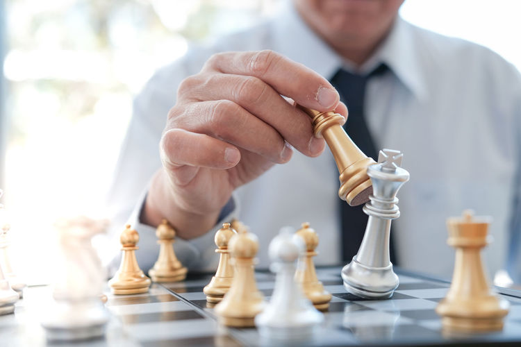 Businessman play with chess game. success management concept of business strategy and tactic challenge Challenge Game Strategy Chess Success Competition Businessman Business Concept Move Play Intelligence Strategic Management Leadership Board King Win Plan Man Piece Victory Battle Hand Leader Power Chessboard Manager Tactic White Pawn Symbol Decision Figure Winner Checkmate Competitive Black Solution Fight Sport Thinking Tactics Idea Planning Queen Executive  Team Defeat Corporate Leisure Games Leisure Activity Board Game One Person Chess Piece Men Relaxation Human Hand Human Body Part Real People Indoors  Chess Board Playing Holding Lifestyles Skill  King - Chess Piece Queen - Chess Piece Knight - Chess Piece Positioning