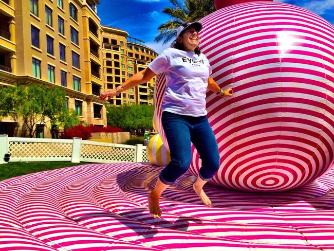 Happy Gift bouncy art by Friends With You at the Scottsdale Canal Convergence Festival by Scottsdale Public Art in Scottsdale Arizona Eyeem Phoenix Meetup2 Scottsdale Public Art IPhoneography Theartofiphoneography