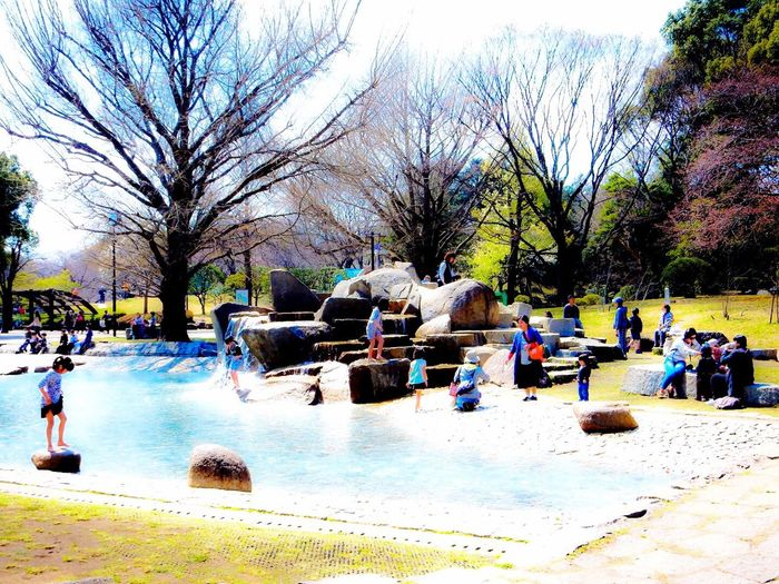 pubiic garden Pubiic Garden Park Water Kids 公園 子供 水 水遊び 春