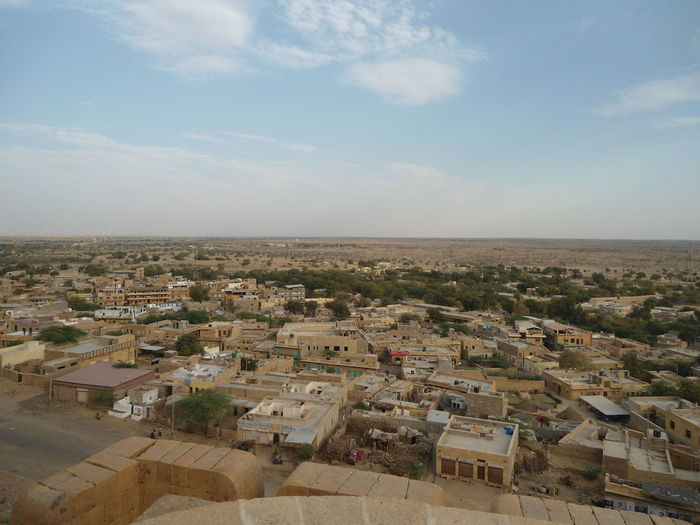 Jaisalmer Fort Rajasthan Jaisalmer City Cityscape Aerial View Sky Architecture Cloud - Sky