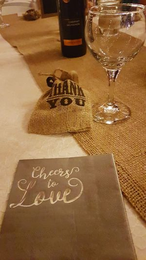 Cheers to love! Indoors  Special Occasion Thankyou Love Cheers Cheers To Love Thanks  EyeEm Selects No People Sayings Saying Thank You Text Table Greeting Card