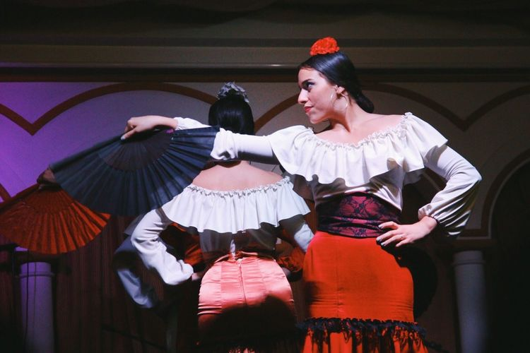 Stage Costume Performance Flamenco Sevilla Seville Traditional Culture Spanish Dancing Movement Stage Fierce Women