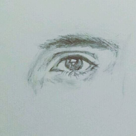 new work of a very awesome guy.. (; MistAke_Arts Art Eyes Portrait