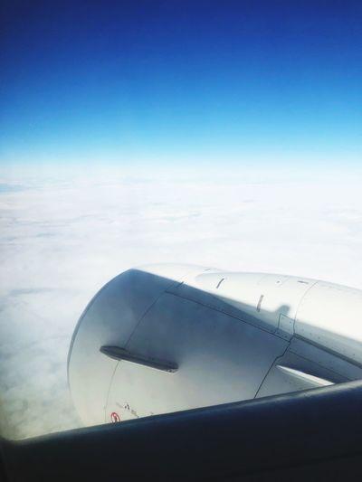 Über den Wolken Sky Airplane Air Vehicle Blue Transportation Mode Of Transportation Flying Nature