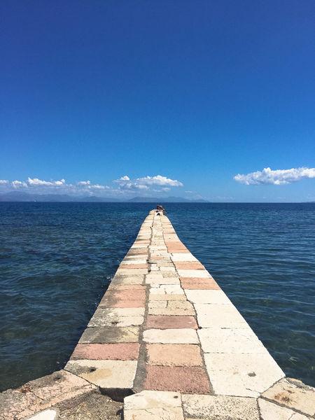 Beach Blue Corfu Follow Greece Horizon Horizon Over Water Infinity Lines Mediterranean  Nature Outdoors Path Pier Road Scenics Sea Sky Summer Swim Walk Walkway Water Way