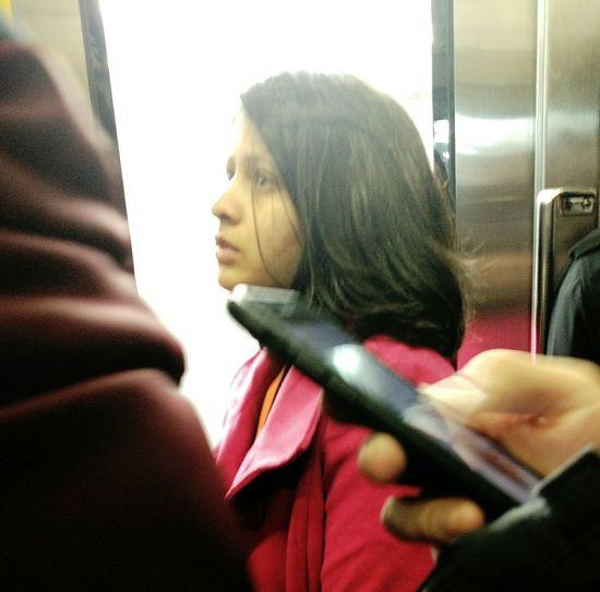 Women Around The World Inthetrain Redcoat Morningrush Weekday Worried Womanface