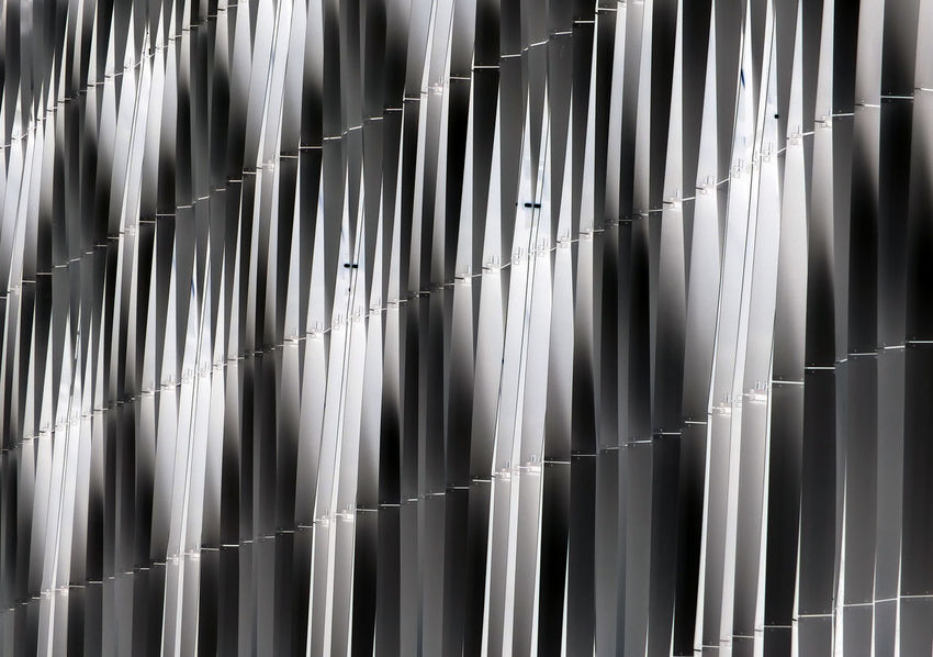 details of modern metallic wall Backgrounds Classic Close-up Day Full Frame Indoors  Metal Building Metal Cladding Metallic No People Pattern Pattern Pieces