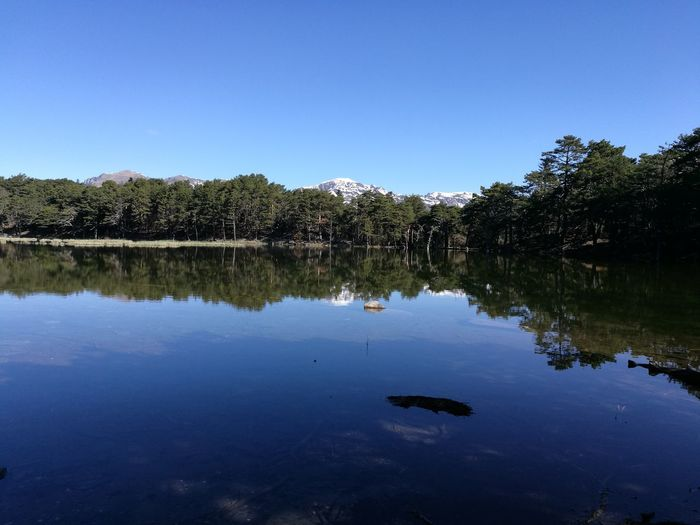 Reflection Water Lake Tree Nature Sky Scenics Beauty In Nature No People Tranquility Blue Outdoors Landscape Spring Mountain Treking