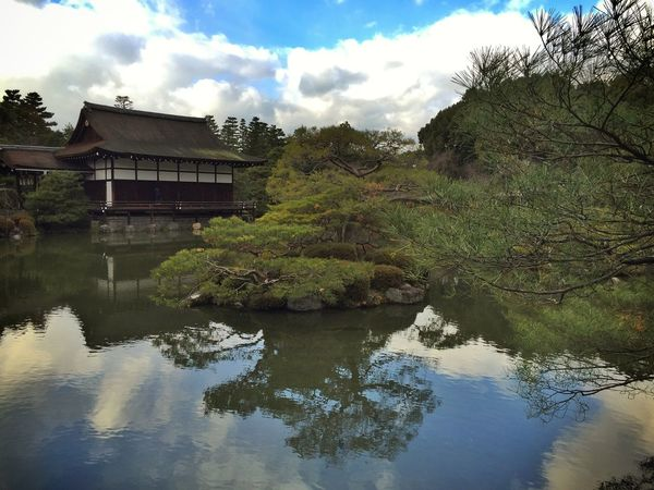 A garden at Heian-Jingu Shrine in Kyoto Nature Traveling Kx2014