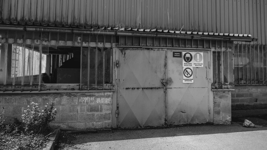 Forbidden Industry Iron No Entry Shadow And Light Architecture Building Exterior Built Structure Day Exploration Industrial Area Metal No People Off Limits Outdoors Shadow And Light Play Structure Workers Area
