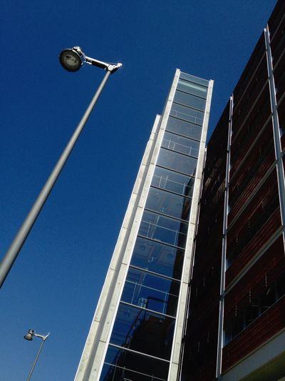 Monday Sky Lampost Monday Street Lamp Monday Urban Geometry NEM Street Sky Blue Series Starting A Trip Minimalism