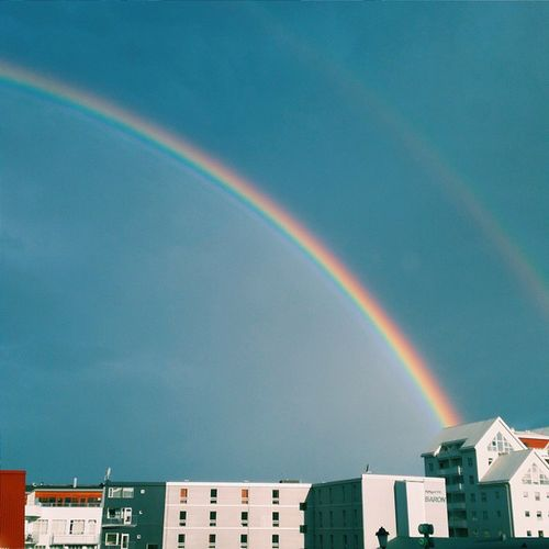 A view from our new accomodation. It's allrigt. Hverfisgata Reykjavik Whatsonrvk Rainbow