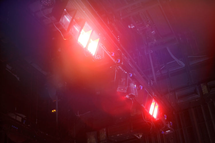 many theater flood lights Illuminated Architecture Lighting Equipment Arts Culture And Entertainment Flare Beam Party Background Abstract Nobody Spotlight Glowing Night Flood Decoration Theater Floodlight Interior Architecture Ceiling Light Studio Club Equipment Effects