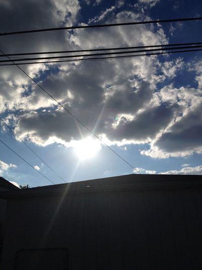 At New House Sky Sun Beautiful