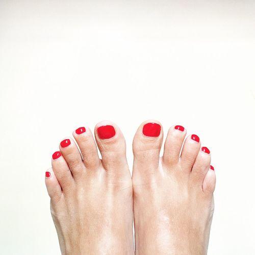Happy Feet Feet Red Toes Red Toes Nailpolish Nail Polish Red Nails Summer ☀ Summer