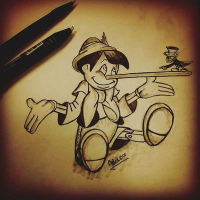 Drawing Disney Cartoon Sketch
