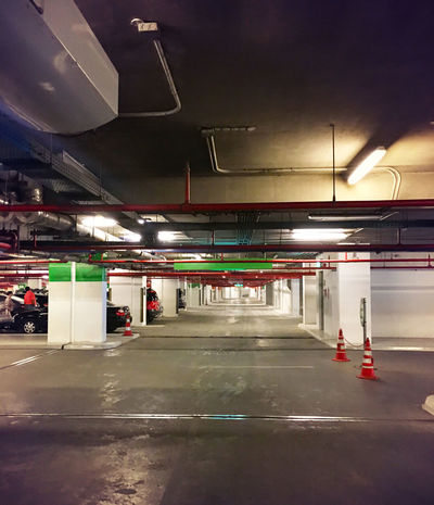 Architecture Automobile Cars Wall Arch Architecture Auto Automotive Building Built Structure Car Car Garage Ceiling Column Columns Empty Garage Illuminated Indoors  Park Parking Parking Garage Safety Transportation Vehicle