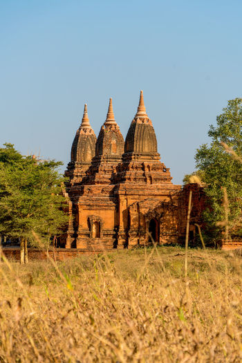 Grass High Resolution Temples Travel Tree Ancient Architecture Ancient Civilization Bagan Bagan, Myanmar Blue Sky Buddhism Burma Day Myanmar Plain Stone Temple Travel Destinations
