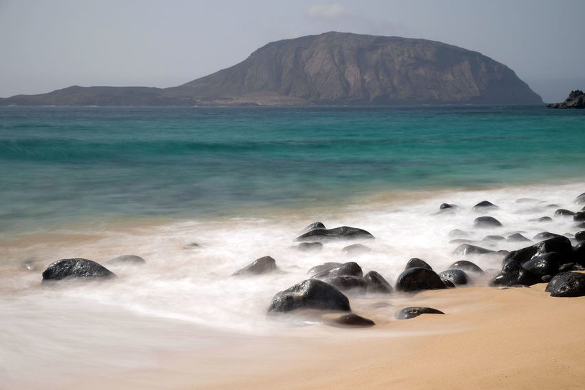 La Graciosa, Spain La Graciosa Landscape_Collection Lanzarote SPAIN Wave Beach Beauty In Nature Day Horizon Over Water Landscape Long Exposure Mountain Nature No People Outdoors Rock - Object Scenics Sea Sky Tranquility Water Wave Waves Waves, Ocean, Nature