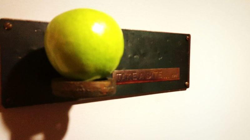 Fruit Apple Side View Side Angle Green Sign Vintage Unique Unique Beauty Check This Out Shadows & Lights