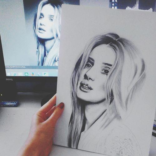 Artist Drawing Portrait Art Gallery Rosiehuntingtonwhiteley Progress