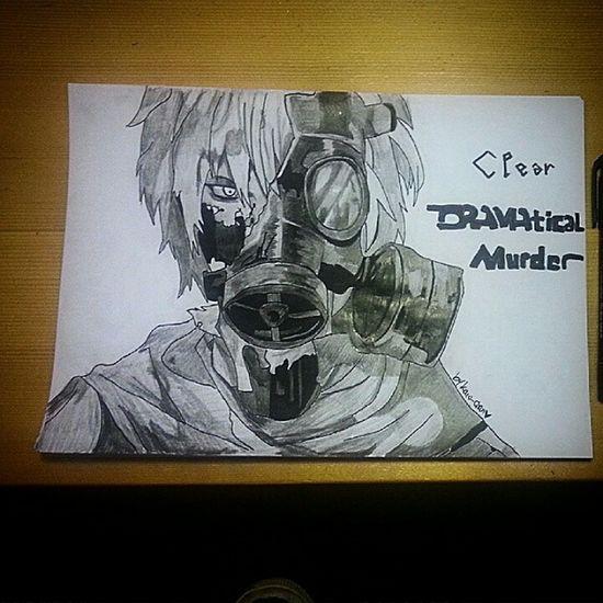 Me Drawing Clear DramaticalMurder Anime Japan Art Pencil Black & White Enjoy (*¯ω¯*)✏💕