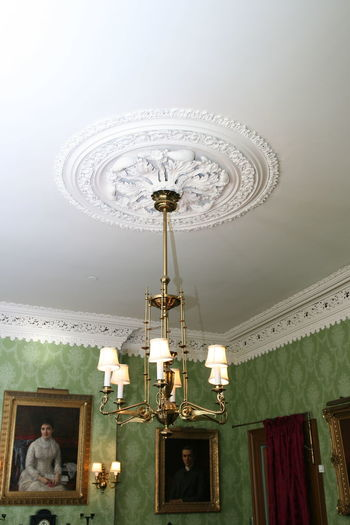 Classic Green Color Architecture Brocade Built Structure Ceiling Chandelier Day History Illuminated Indoors  Interior Design Low Angle View Museum No People Sitting Statue Wallpaper
