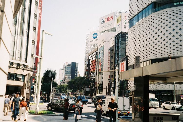 Ginza フィルム部 フィルムに恋してる フィルム写真 フィルム 銀座 東京 Ginza Architecture Building Exterior Built Structure City Group Of People Real People Large Group Of People Sky Street Day
