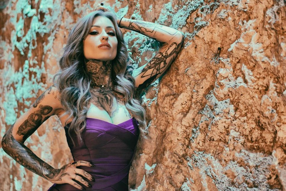 It's the simple things. Long Hair Tree Trunk Tree Portrait Beautiful Woman Adult One Person Nature Fashion Young Adult Only Women Beauty Looking At Camera Outdoors Human Body Part Day One Woman Only Beautiful People Young Women Fashion Model