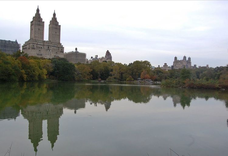 2011 Central Park in NYC Architecture Blue Building Exterior Built Structure City Geometry Green Horizontal Symmetry International Landmark Lake Landscape Outdoors Reflection River Sky Skyporn Symmetry Tourism Town Tree Urban Water Waterfront