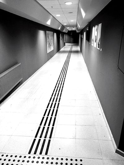 Everywhere is brightened, Everwhere ...? Architecture The Way Forward Direction Built Structure Indoors  Diminishing Perspective Transportation Illuminated Corridor No People A New Beginning