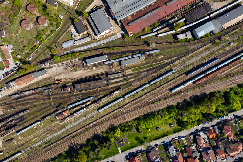 Aerial drone view of old locomotive train depo, parking iron horses on railway routes. Diesel engine High Angle View Transportation Day Architecture Building Exterior Built Structure Outdoors Train Train - Vehicle Train Station Train Tracks Locomotive Locomotive Engine Locomotives Railway Railway Track Railway Station Iron Horse Route Diesel Diesel Locomotive Diesel Engine DIESELpower Parking Depot Garage Aerial View Aerial Aerial Photography Aerial Shot Aerial Landscape Drone  Dronephotography Drone Photography Droneshot Industrial Indusrty Transportation Transportation Building - Type Of Building Transportation Vehicle Urban Railroad Track Cargo