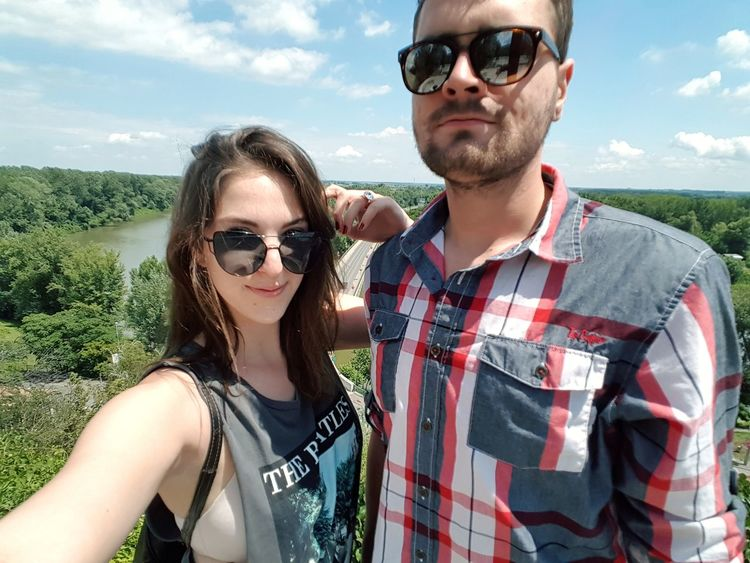 Sunglasses Young Adult Two People Cloud - Sky Casual Clothing Adult Day Portrait Young Women People Adults Only Outdoors Togetherness Summer Headshot Sky Smiling Men Nature Only Men