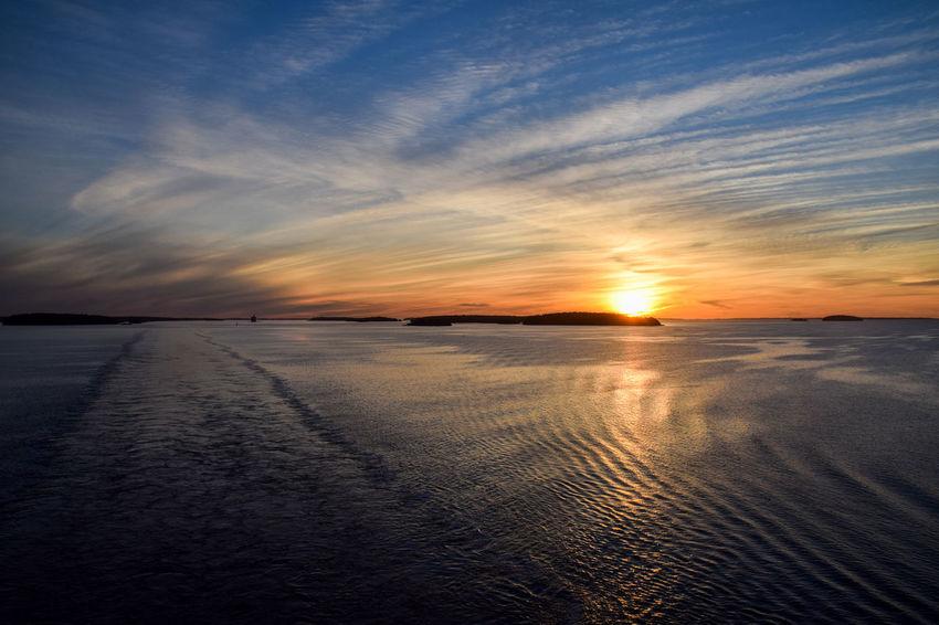 Archipelago Baltic Sea Beauty In Nature Cloud - Sky Dawn Dawn Of A New Day Horizon Over Water Landscape Nature No People Ostsee Outdoors Scenics Schärengarten Schäreninseln Sea Sky Skärgård Tranquil Scene Tranquility Water