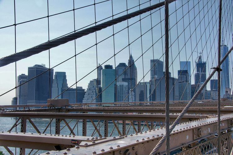 New York Skyline Premium Collection Getty Images Premium Sammlung Bridge Construction Skyline New York Architecture Built Structure Skyscraper City Modern Bridge - Man Made Structure Building Exterior Day Cityscape Downtown District Connection #urbanana: The Urban Playground