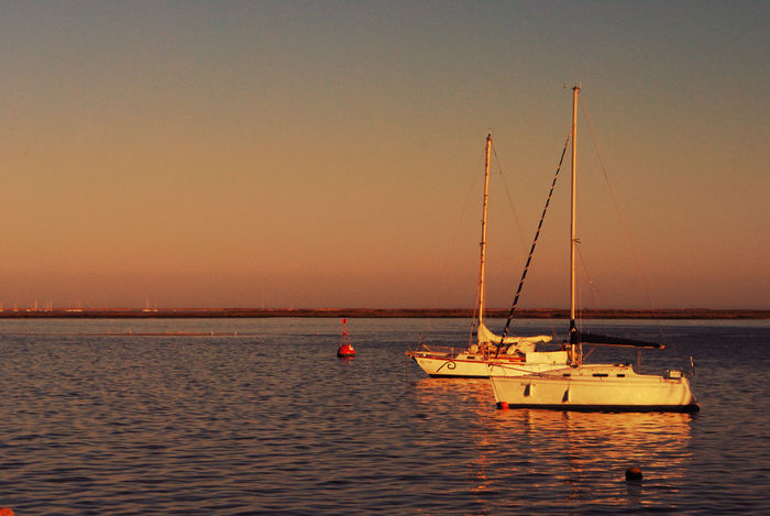 Beauty In Nature Clear Sky Day Nature Nautical Vessel No People Olhao Outdoors Scenics Sea Sky Sunset Transportation Water Waterfront