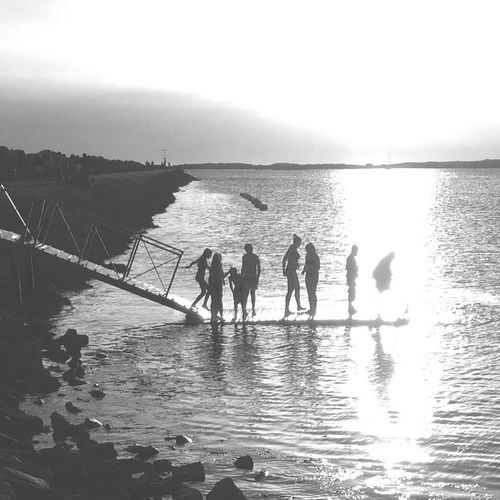 Sunset bathers MADE IN SWEDEN Mobilephotography Varberg Bw_collection