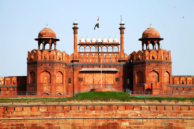 The red fort against clear sky
