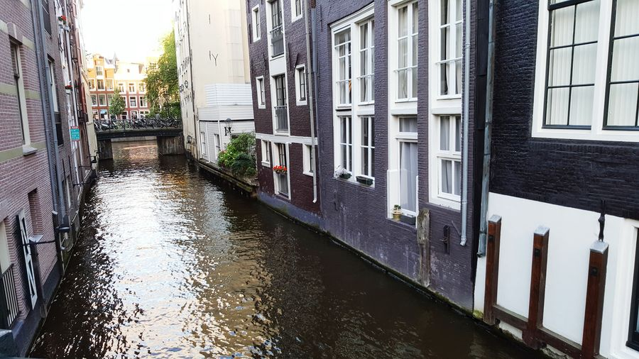 Amsterdam Canal Amsterdamcity Amsterdam Canal River Buildings Architecture Antique Building Building And Water