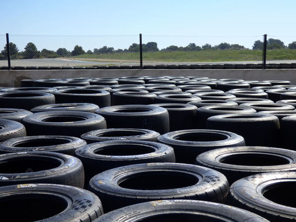 Day No People Old Tires To Recycle Outdoors Racing Car Tires