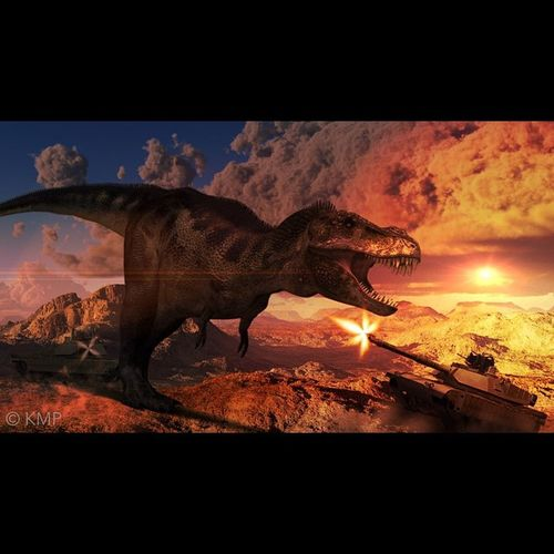 Squaready Dinosaur BrainFeverMedia LensFx Lenslight Picfx Impression War Fantasy Chaos Sfx Fight Tank Army K8marieuk