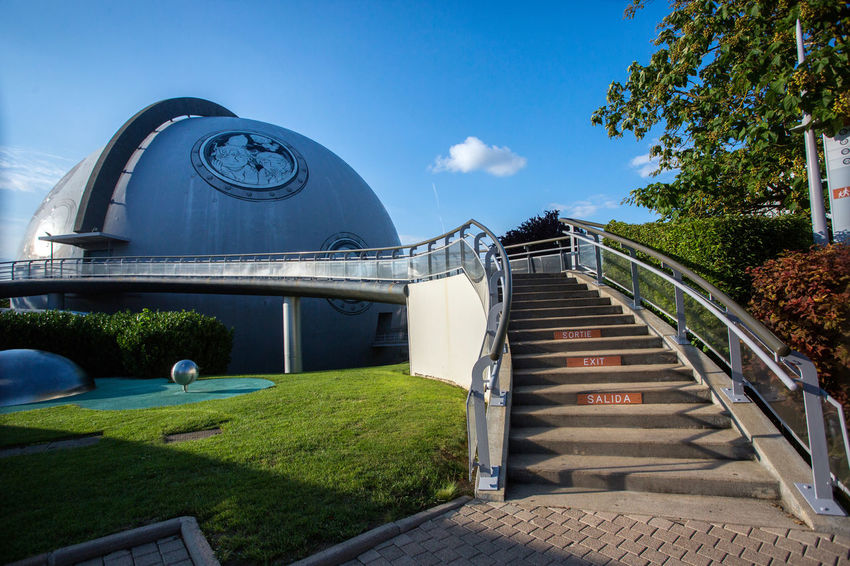 Futuroscope Theme Park Futuroscope Theme Park | Poitiers - France Futuroscope2017 Leisure Park Architecture Blue Building Exterior Built Structure Clear Sky Day Grass Modern Nature No People Outdoors Sky Steps And Staircases Tree
