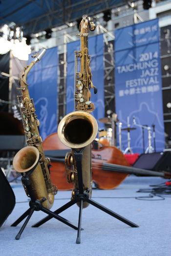 台中爵士音樂節要開始囉 Taichung The View And The Spirit Of Taiwan 台灣景 台灣情 Traveling Arts Culture And Entertainment Brass Brass Instrument  Focus On Foreground Jazz Music Landspace Metal Music Musical Instrument Sheet