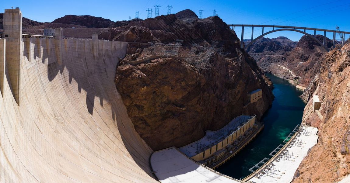 Hoover Dam Hooverdam Sony A6000 Unique Bigbuildings Gigapanorama USA Bridge Architecture Water Sunny Day