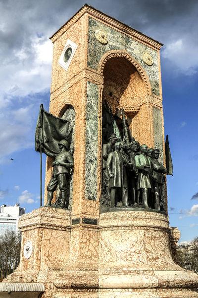 The Independence Monument (Istiklal Aniti) in Istanbul, Turkey. Art Human Representation Independence Day Independence Monument Istanbul Istiklal Street Monuments Religion Sculpture Statue Taksim Turkey Türkiye