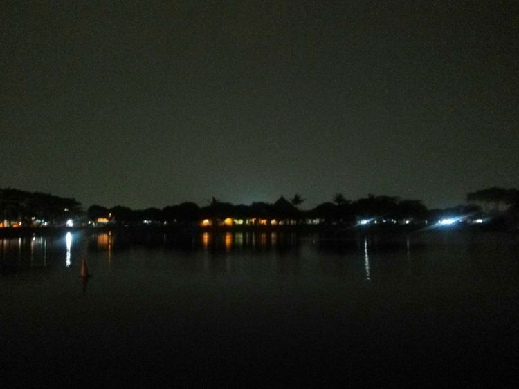 Danau Marakash , Night Water Reflection Outdoors No People Beauty In Nature Nature Lake Sky Bekasi, Indonesia