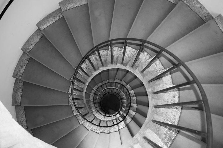 Architectural Feature Architecture Building Building Exterior Built Structure Circle Design Directly Below Geometric Shape High Angle View Indoors  Pattern Spiral Spiral Staircase Staircase Stairs Steps Steps And Staircases Villa D'Este