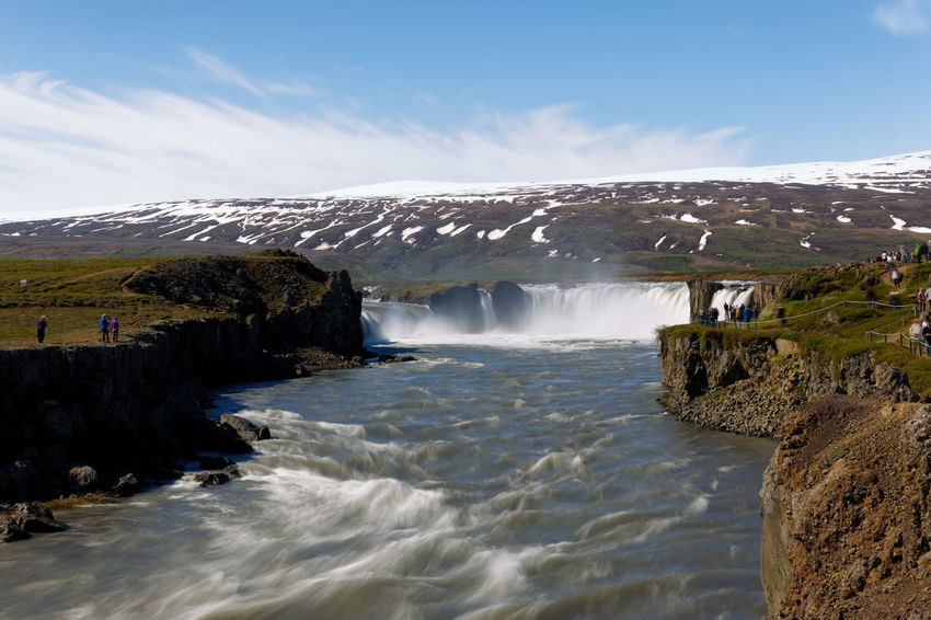 Landscape of Iceland, Godafoss Goðafoss Goðafoss Waterfall Iceland Travel Beauty In Nature Blurred Motion Day Environment Flowing Flowing Water Godafoss Godafoss Fall Landscape Long Exposure Motion Mountain Nature No People Outdoors Power In Nature Rock Scenics - Nature Sea Sky Splashing Water Waterfall Waterfalls